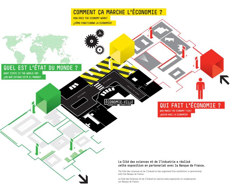 Plan de l 39 exposition exposition l 39 conomie krach - Porte de la villette cite des sciences ...