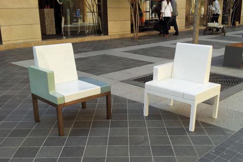 FAUTEUIL CÉRAMIQUE - Fauteuil céramique pour Beyrouth - Mobilier urbain(ouverture du diaporama)