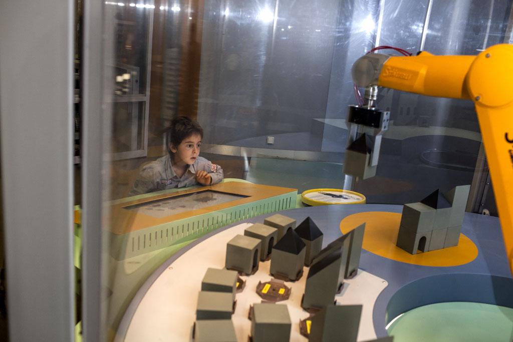 Le robot en action(ouverture du diaporama)