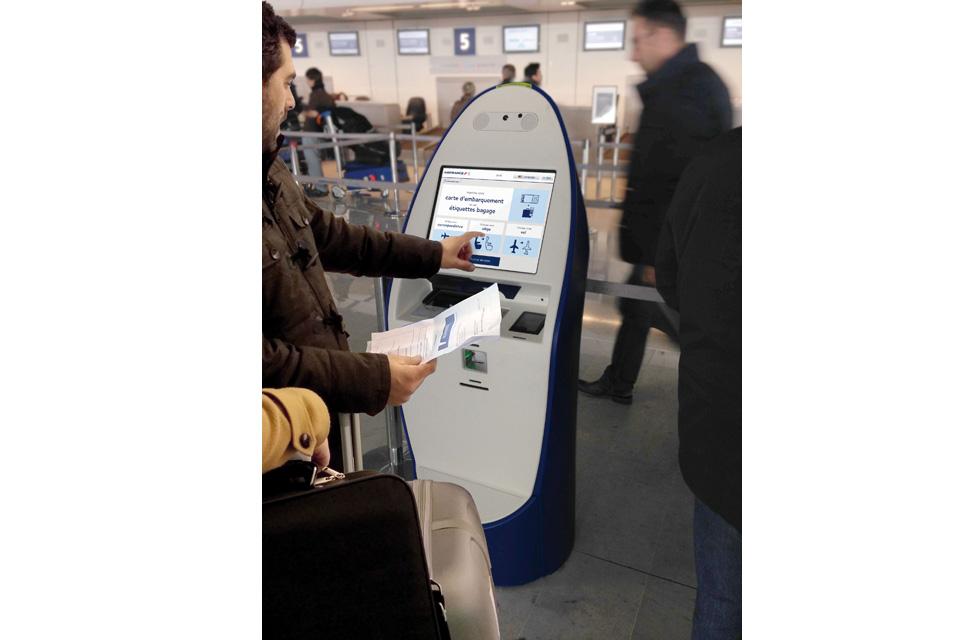 BORNE D'ENREGISTREMENT EN LIBRE-SERVICE AIR FRANCE - Application interactive(ouverture du diaporama)