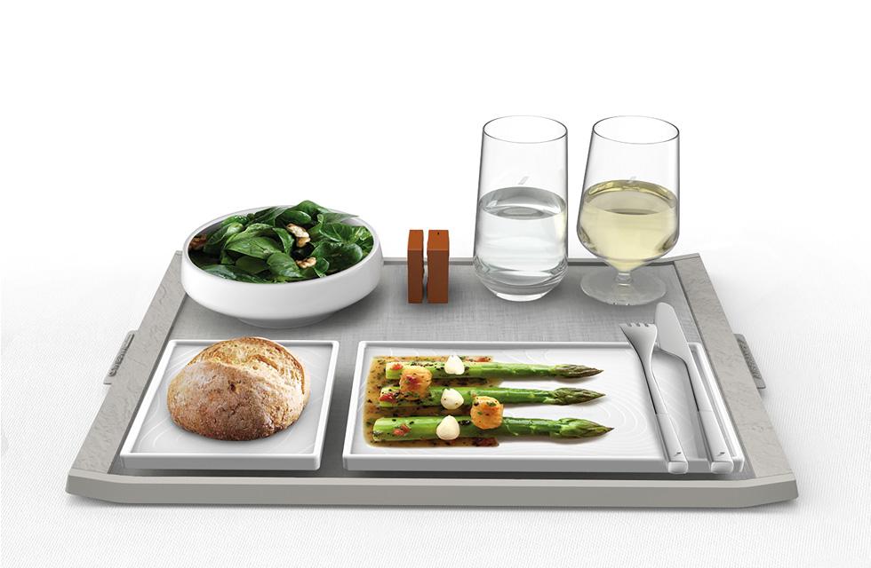 LE SERVICE DE TABLE EN CABINE LA PREMIÈRE ET BUSINESS - Collection arts de la table pour Air France(ouverture du diaporama)