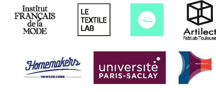 Textile et numérique, un événement en partenariat avec Le TextileLab, L'Institut Français de la Mode, DataPaulette, Artilect, Université Paris Saclay FabLab Digiscope, Homemakers.
