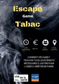 Affiche de l'escape game Escape Tabac
