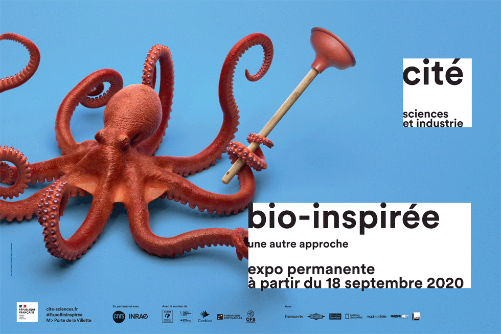 bio-inspirée, exposition permanente à partir du 18 septembre 2020 à la Cité des sciences et de l'industrie, porte de la Villette